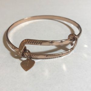 ALEX AND ANI Amber Waves Rose Gold Bangle-RETIRED
